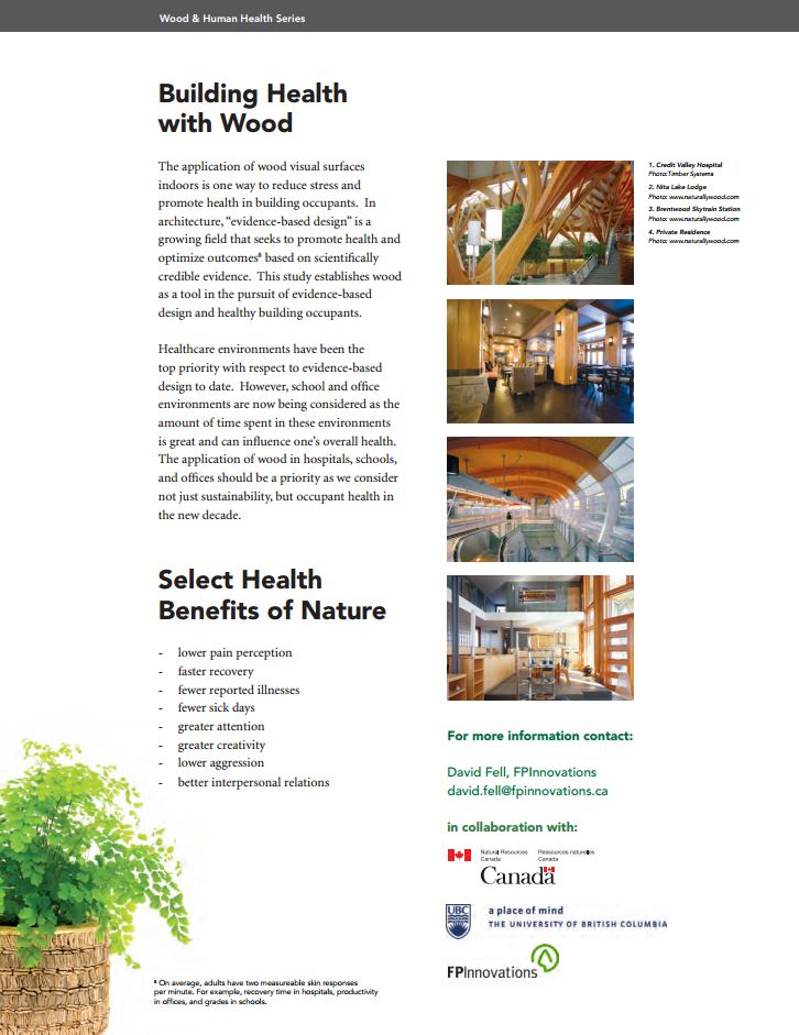 The Study - Wood is Good for Human Health - Building Health with wood