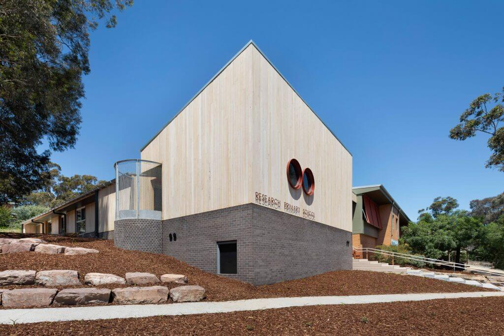 Research Primary School - Timber Wall by Mortlock
