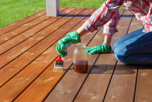 Timber Deck Recoat with Oil